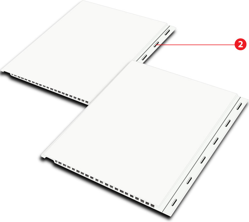 Quickliner Durable PVC Wall Panels with Nailing Flange