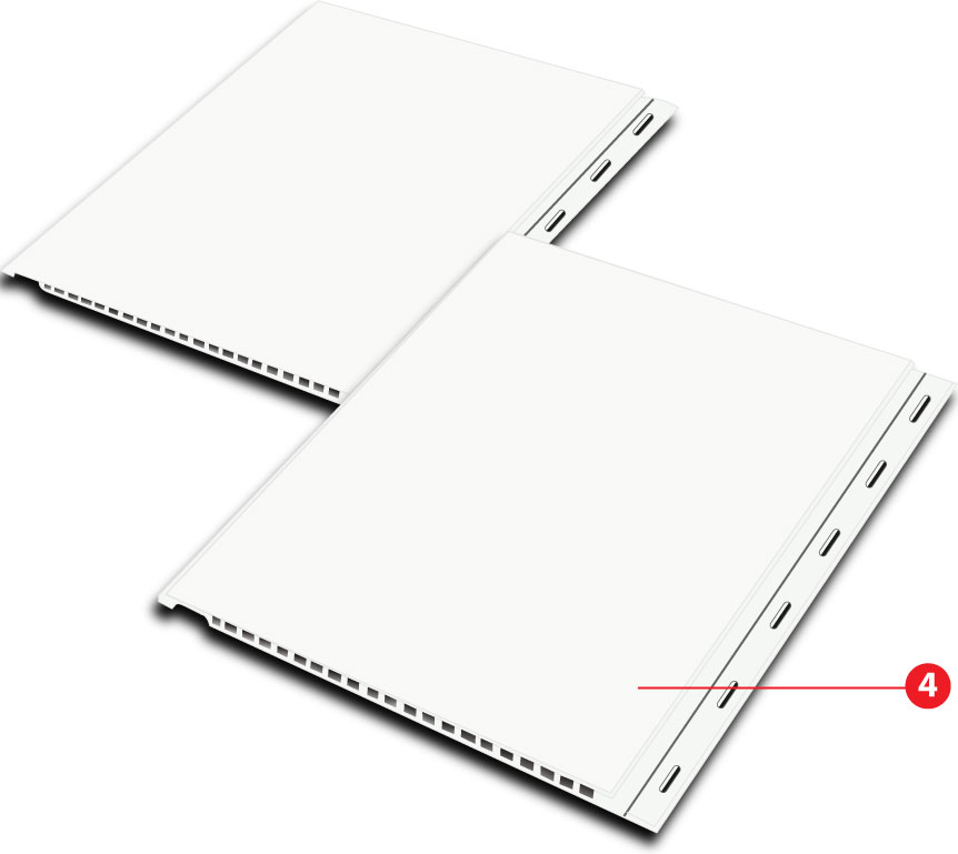 Showing Snap-Trim Edges for Quickliner Durable PVC Wall Panels