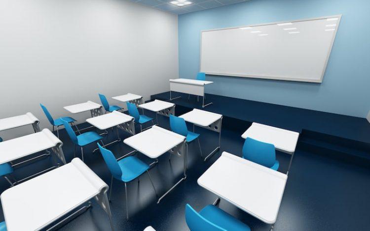 3d rendering of a modular classroom
